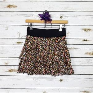 Free People floral tiered skirt